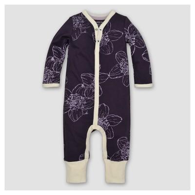 Burt's Bees Baby® Girls' Organic Floral Coverall - Purple 12M
