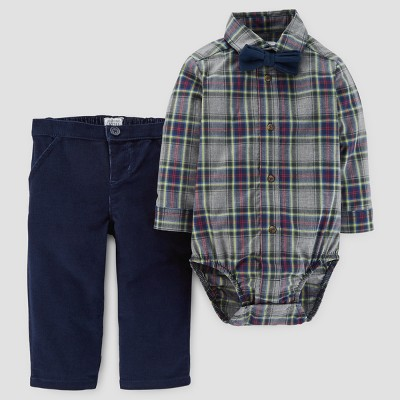 Baby Boys' 3pc Bow Tie and Pants Set - Just One You™ Made by Carter's Brown/Navy 6M