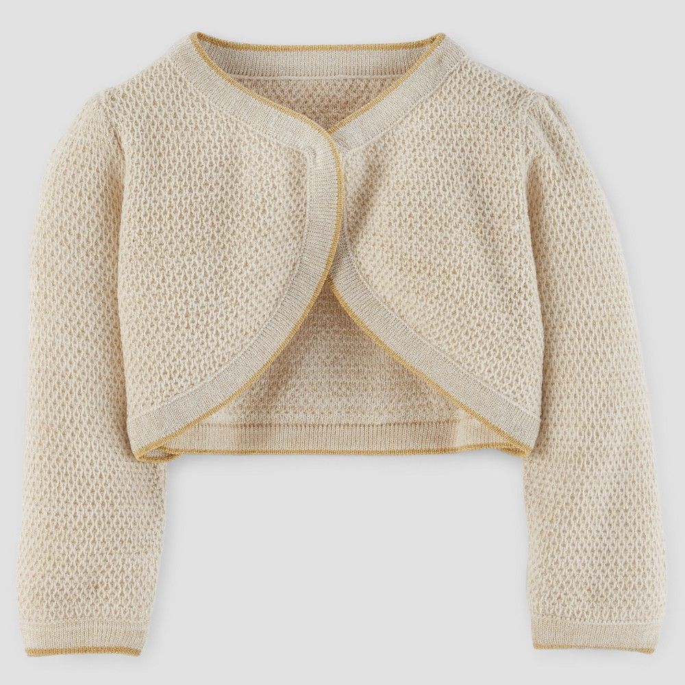 Baby Girls Cardigan Sweater - Just One You Made by Carters Gold Metallic 12M, Yellow