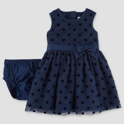 Baby Girls' Sleeveless Dress - Just One You™ Made by Carter's® Navy 12M