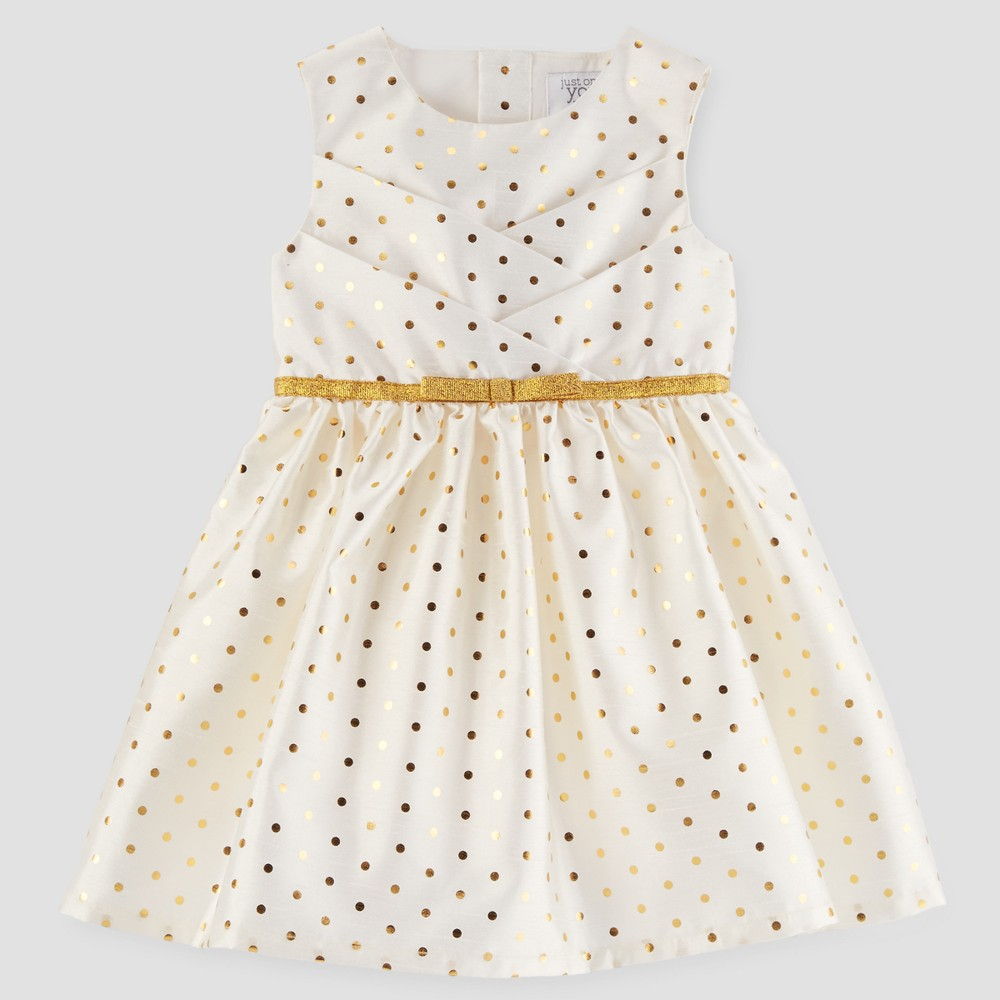 Toddler Girls Polka Dot Sleeveless Dress - Just One You Made by CartersGold 5T, Yellow