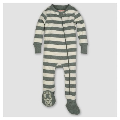 Burt's Bees Baby® Boys' Organic Stripe Sleeper - Green 6-9M