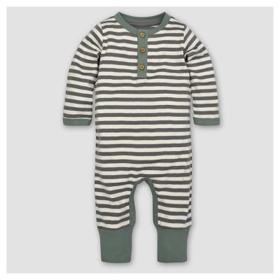Burt's Bees Baby® Boys' Organic Mushroom Fields Henley Coverall - Gray 12M