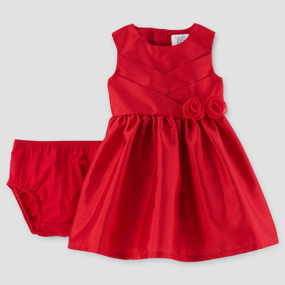 Baby Girls Sleeveless Rosette Dress - Just One You Made by Carters Red 6M