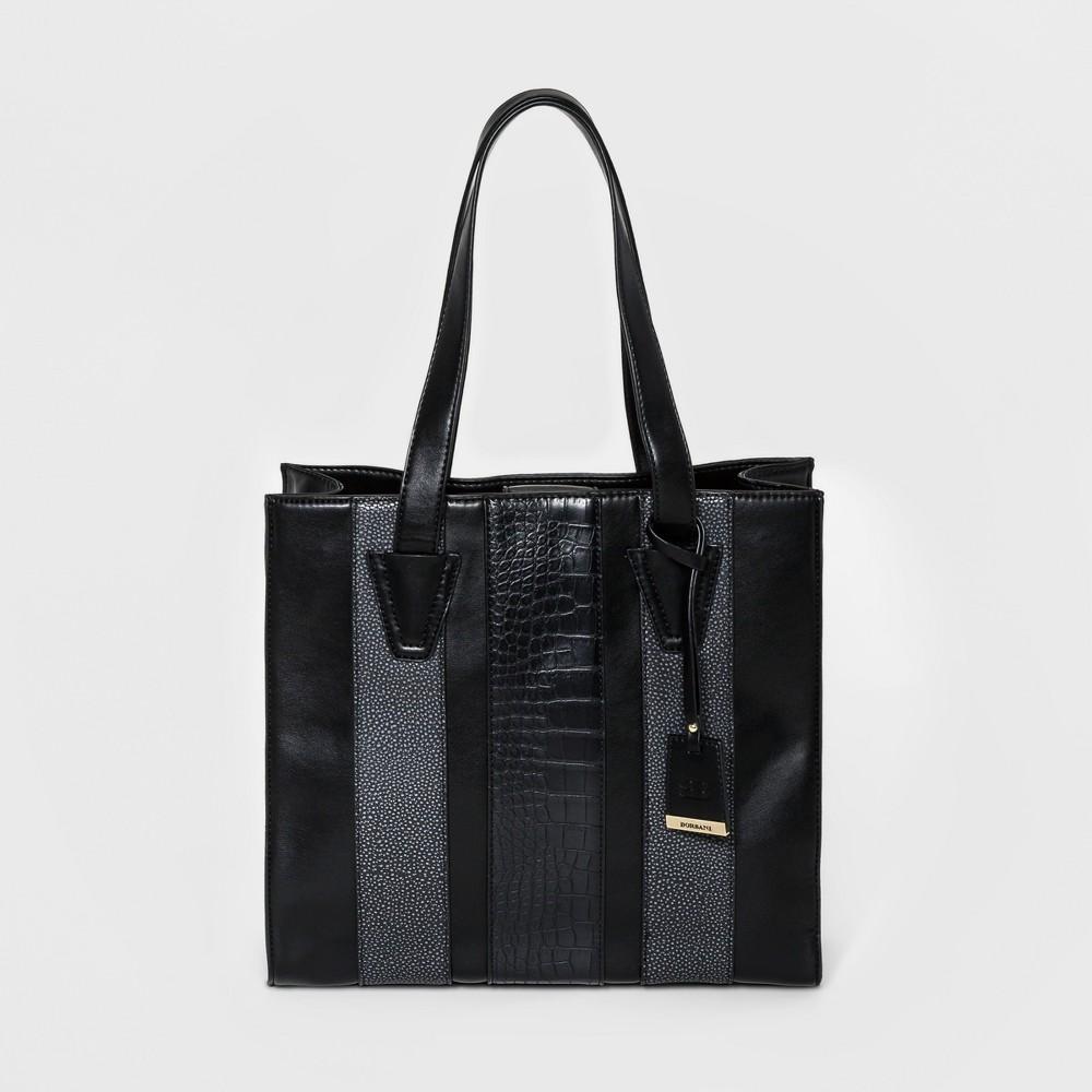 Borsani Womens Claire Tote Handbag - Black