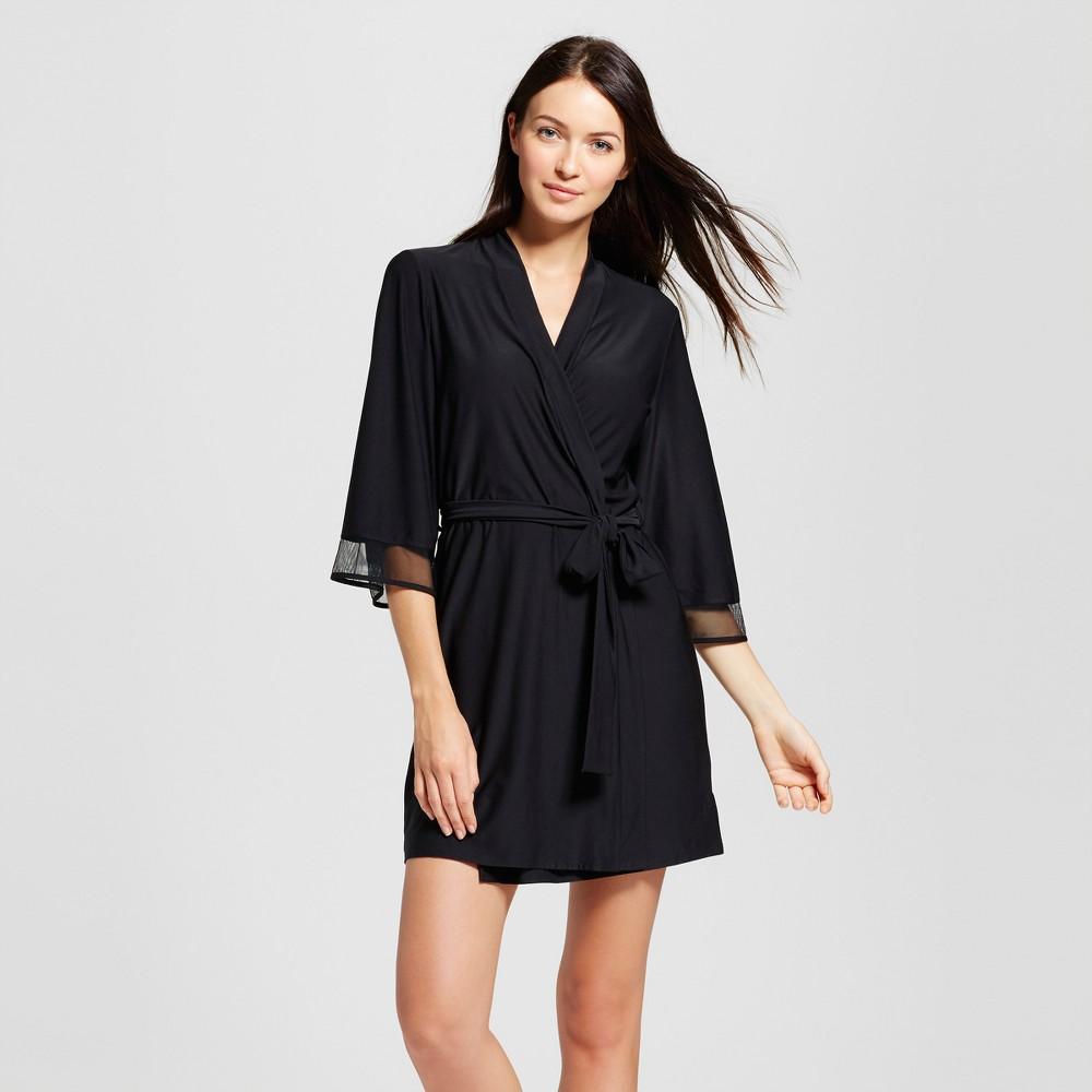 Womens Knit Wrap Black M/L