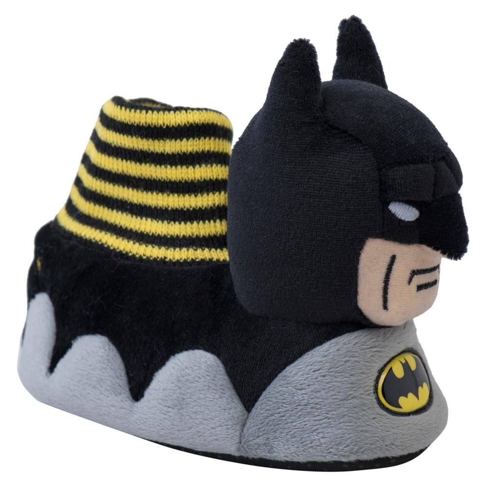Toddler Boys DC Comics Batman Bootie Slippers - Gray M(7-8), Size: M (7-8)