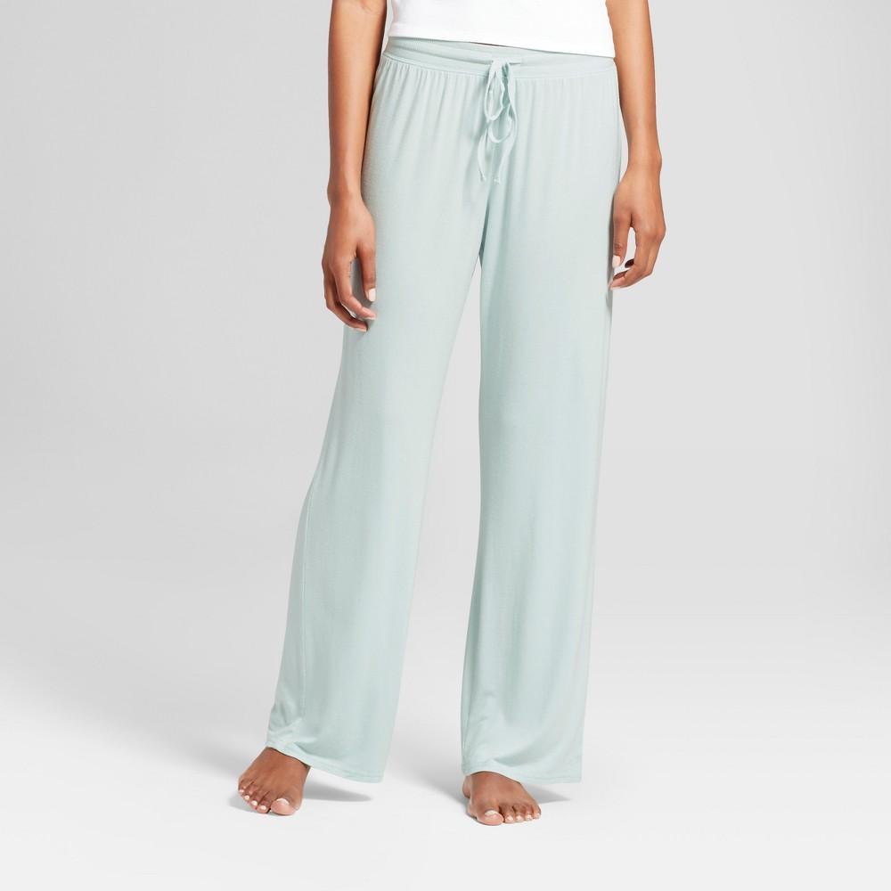 Womens Pajama Pants Blue M, Misty Waterfall
