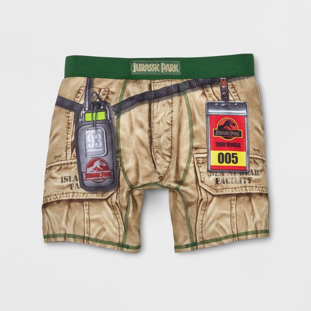 Mens Jurassic Park Boxer Briefs - Brown M