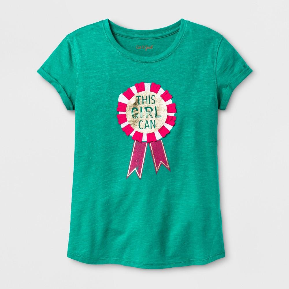 Girls Short Sleeve Graphic T-Shirt - Cat & Jack Green M