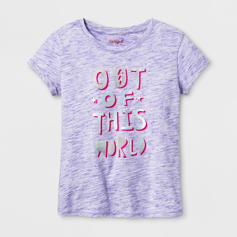 Girls Short Sleeve Graphic T-Shirt - Cat & Jack Purple S