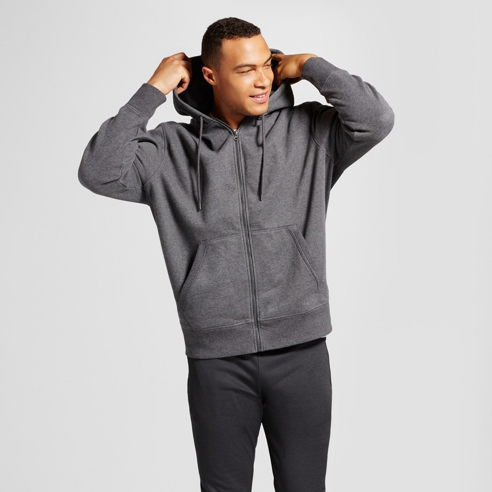 Mens Fleece Full Zip - C9 Champion - Charcoal Gray Heather 3XB, Size: 3XB Tall