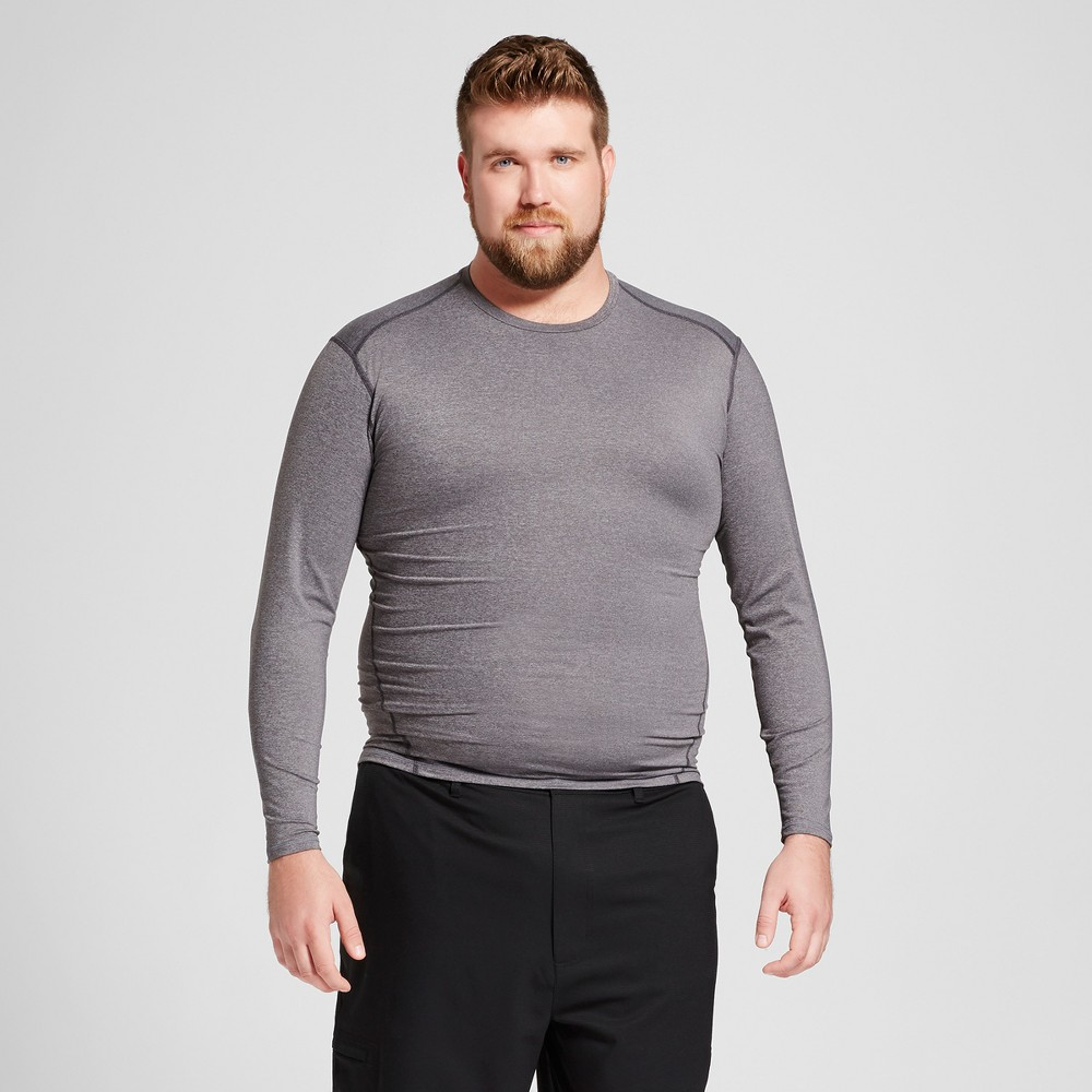 Mens Tall Powercore Long Sleeve T-Shirt - C9 Champion Charcoal Heather Xlt