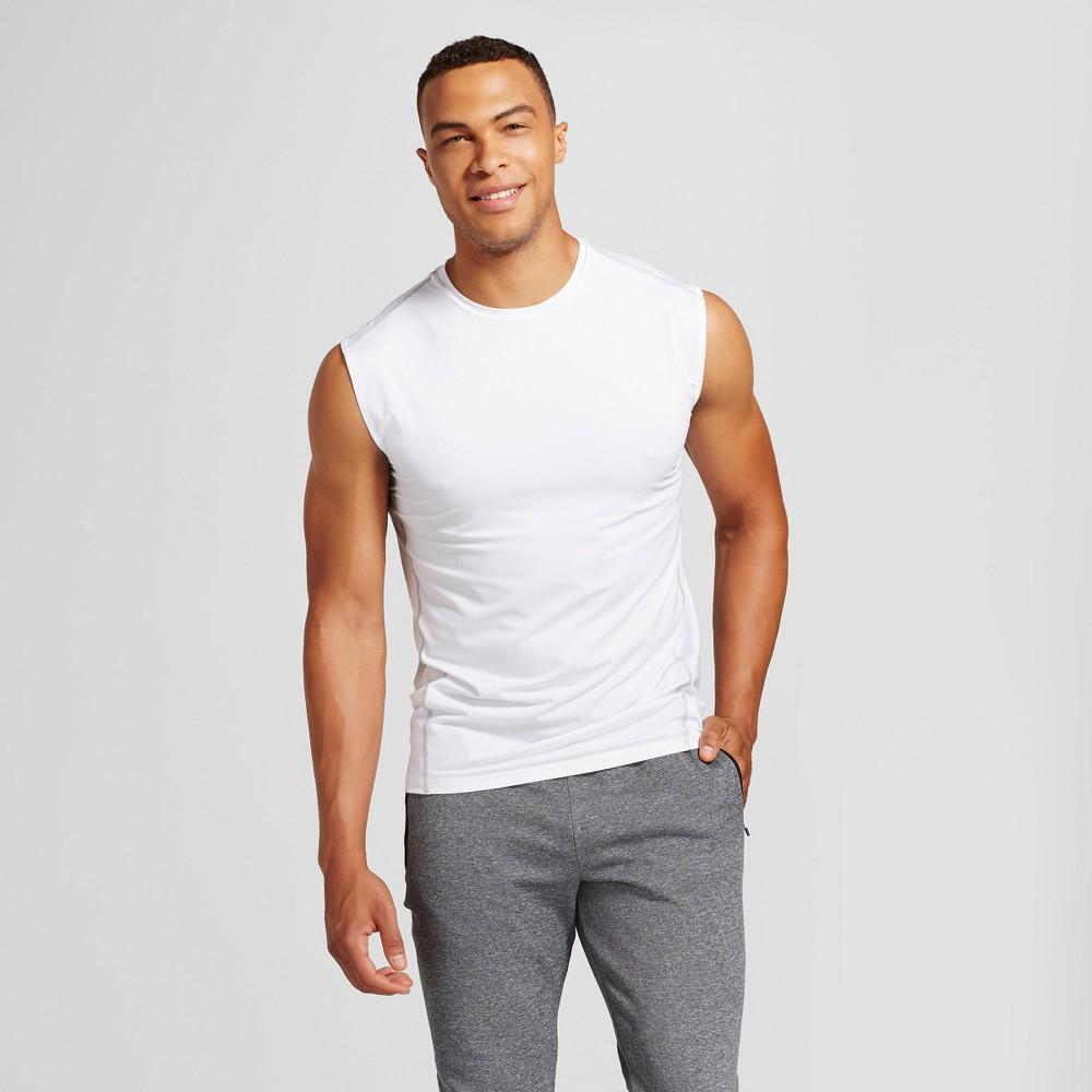 Men's Powercore Sleeveless Compression Shirt - C9 Champion White XL Tall