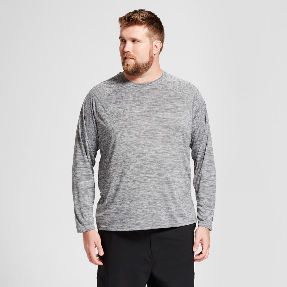 Mens Big & Tall Long Sleeve Tech T-Shirt - C9 Champion - Thundering Gray Heather 2XB