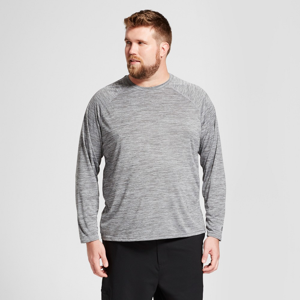 Mens Big & Tall Long Sleeve Tech T-Shirt - C9 Champion - Thundering Gray Heather 4XB