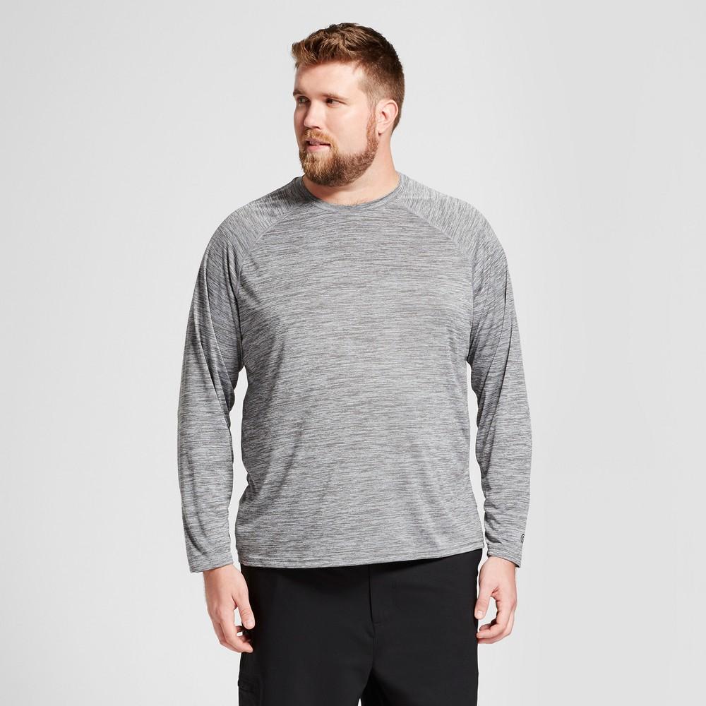 Mens Big & Tall Long Sleeve Tech T-Shirt - C9 Champion - Thundering Gray Heather XLarge Tall, Size: XL Tall