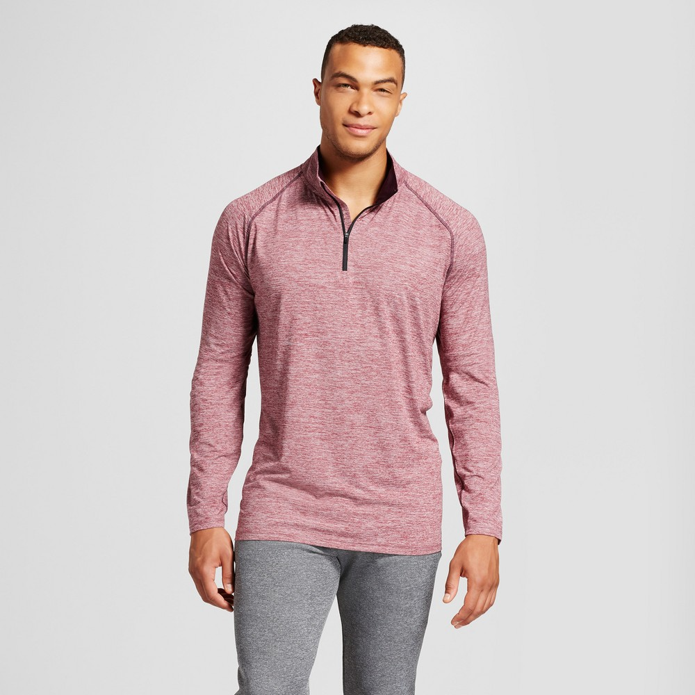 Mens 3/4 Zip - C9 Champion - Mulled Berry (Pink) Heather 5XBT