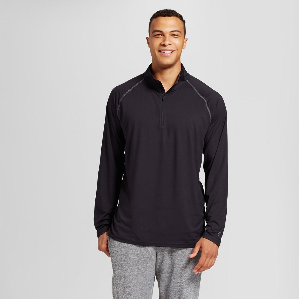 Mens 3/4 Zip - C9 Champion - Black XLarge Tall, Size: XL Tall