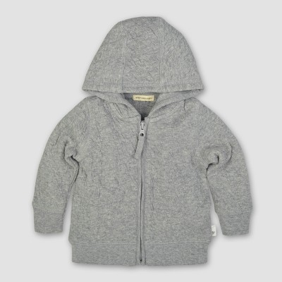 Burt's Bees Baby® Boys' Organic Quilted Jack - Heather Gray 3-6M