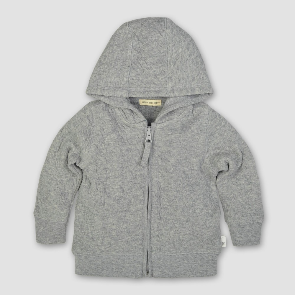 Burts Bees Baby Boys Organic Quilted Jack - Heather Gray Newborn, Size: NB