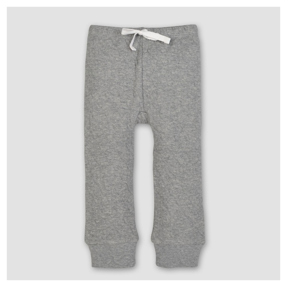 Burts Bees Baby Boys Organic Quilted Pants - Heather Gray 6-9M, Size: 6-9 M