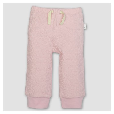Burt's Bees Baby® Girls' Organic Quilted Pants - Pink 3-6M