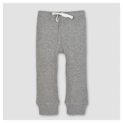Burt's Bees Baby® Boys' Organic Quilted Pants - Heather Gray Newborn