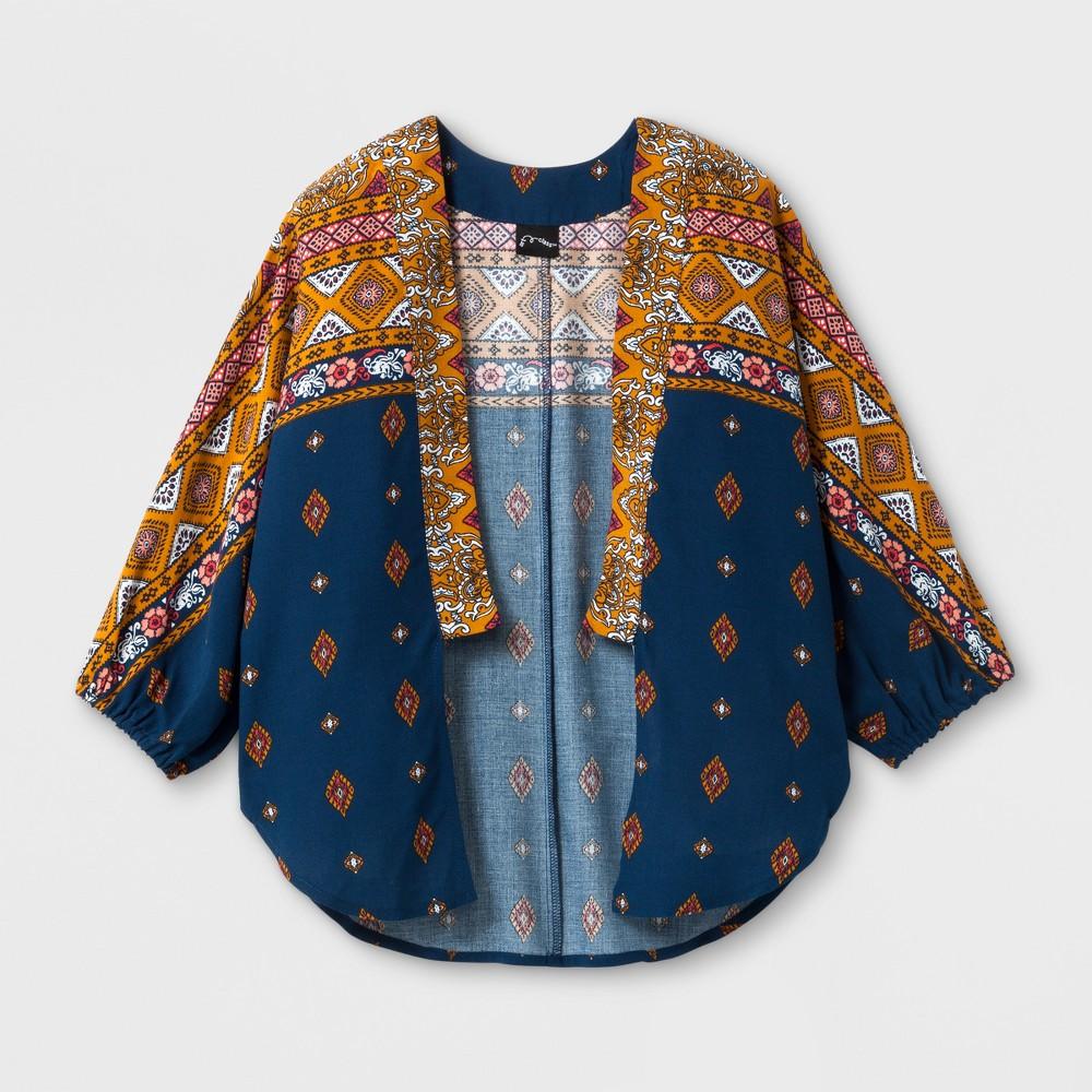 Girls Printed Kimono - Art Class Inca/Maple L, Brown