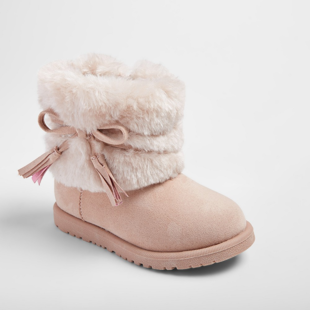 Toddler Girls Teagan Fashion Boots - Cat & Jack Pink 6