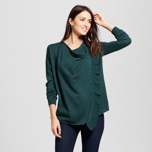 grey ruffle cardigan sweater : Target