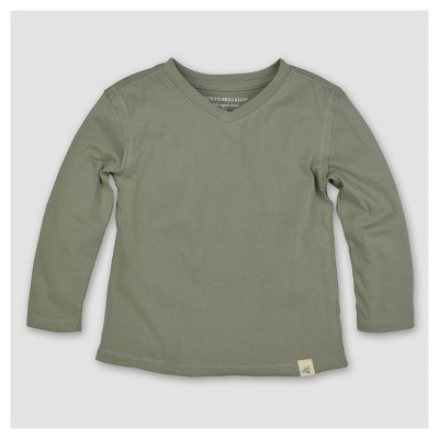 Burt's Bees Baby® Boys' Organic Solid High V-Neck T-Shirt - Green 18M