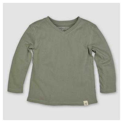 Burt's Bees Baby® Boys' Organic Solid High V-Neck T-Shirt - Green 6-9M
