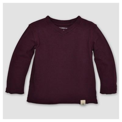 Burt's Bees Baby® Boys' Organic Solid High V-Neck T-Shirt - Maroon 6-9M
