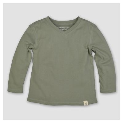 Burt's Bees Baby® Boys' Organic Solid High V-Neck T-Shirt - Green 12M