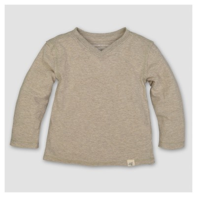 Burt's Bees Baby® Boys' Organic Solid High V Long Sleeve T-Shirt - Sand 0-3M