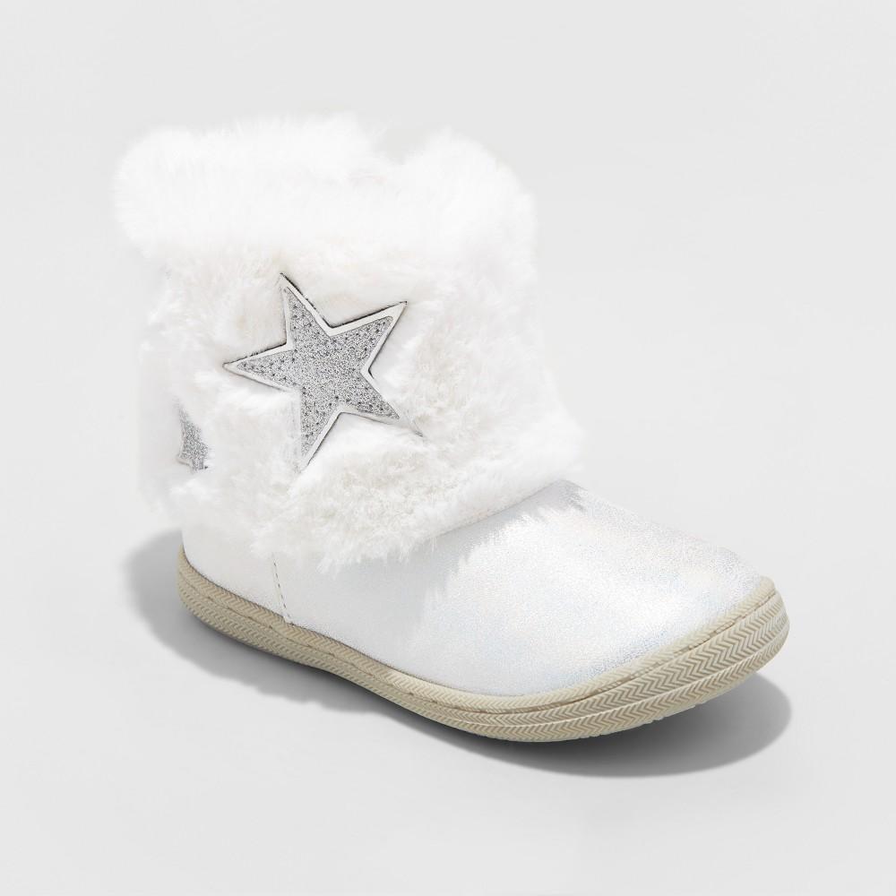 Toddler Girls Karsten Fashion Boots - Cat & Jack White 8
