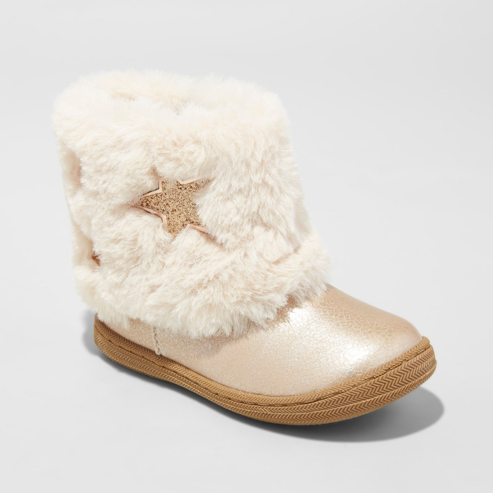 Toddler Girls Karsten Star Fur Fashion boots Cat & Jack - Gold 11