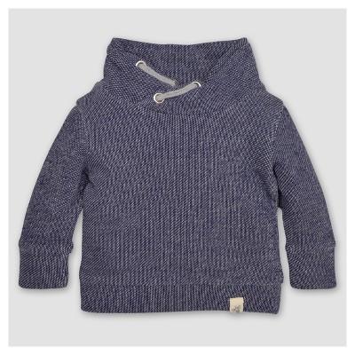 Burt's Bees Baby® Boys' Organic Applique Loose Pique Sweatshirt - Blue 3-6M