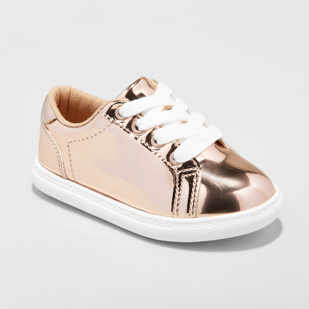 Toddler Girls Irene Low Top Sneakers Cat & Jack - Gold 5