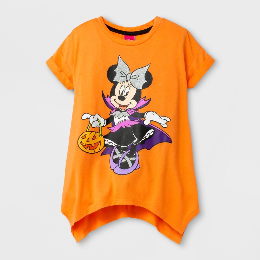 Girls Minnie Mouse Halloween T-Shirt - Orange XS