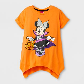 girls minnie mouse halloween t shirt orange - Halloween Shirts For Ladies