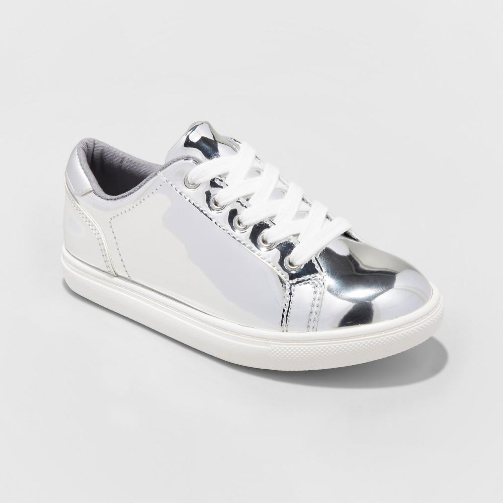 Girls Frances Sneakers - Cat & Jack Silver 13