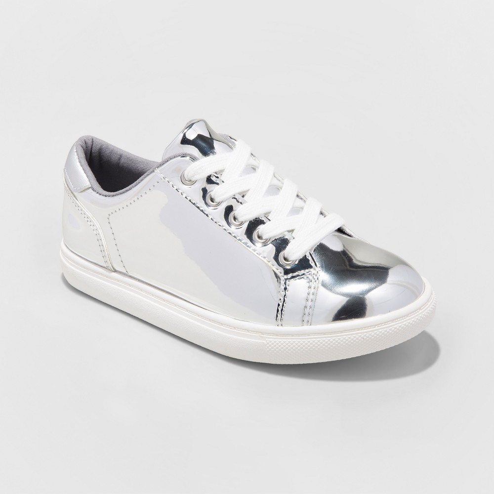 Girls Frances Sneakers - Cat & Jack Silver 2