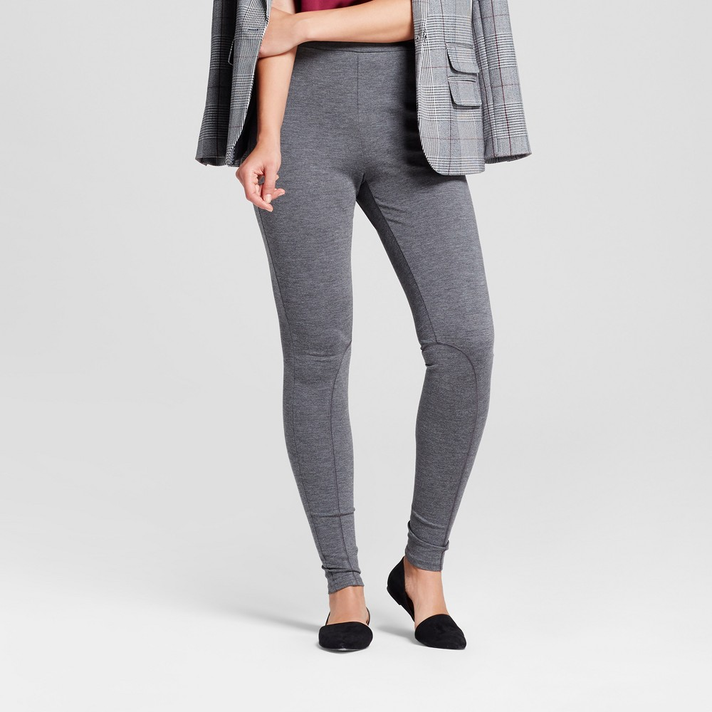 Womens Ponte Pants - A New Day Gray L