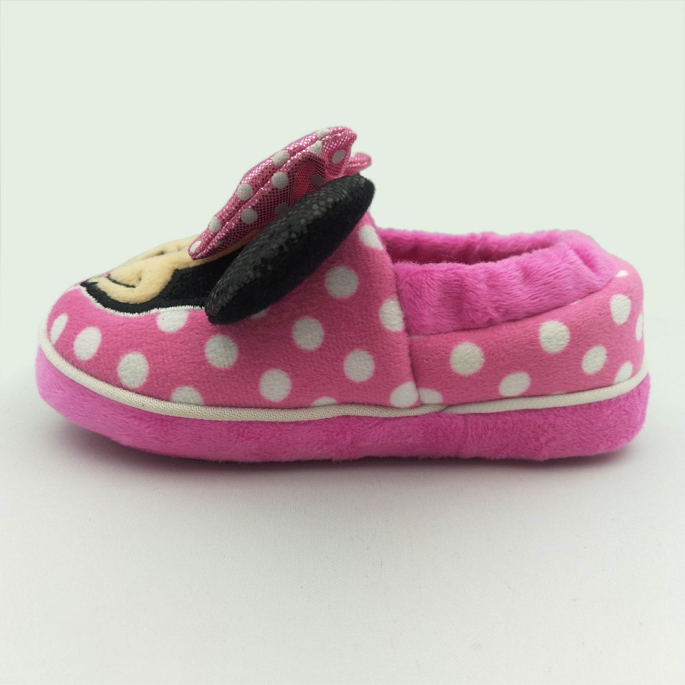 Toddler Girls Disney Minnie Mouse Slippers - Pink M(7-8), Size: M (7-8)
