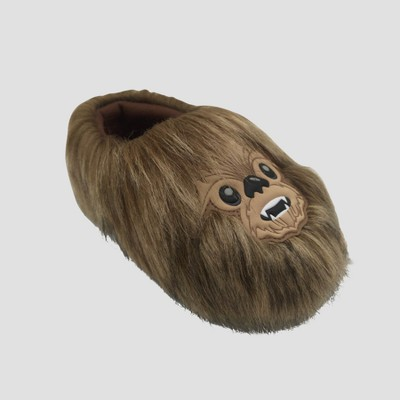 Toddler Boys' Star Wars Chewbacca Slippers - Brown S(5-6)