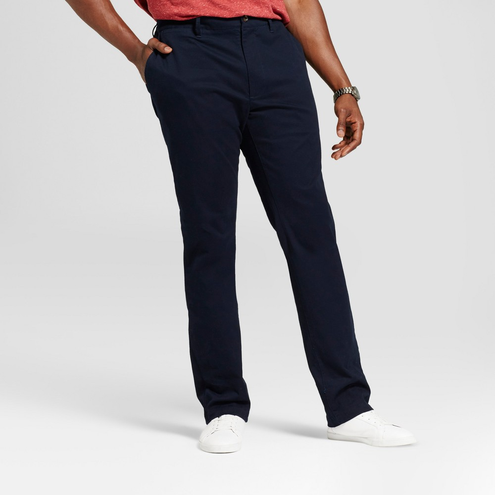 Mens Big & Tall Athletic Fit Hennepin Chino Pants - Goodfellow & Co Navy (Blue) 32X36