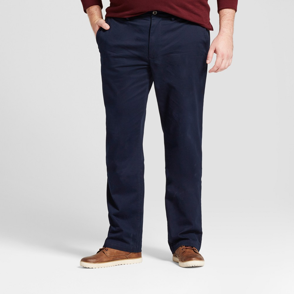 Mens Big & Tall Straight Fit Hennepin Chino Pants - Goodfellow & Co Navy (Blue) 30X36