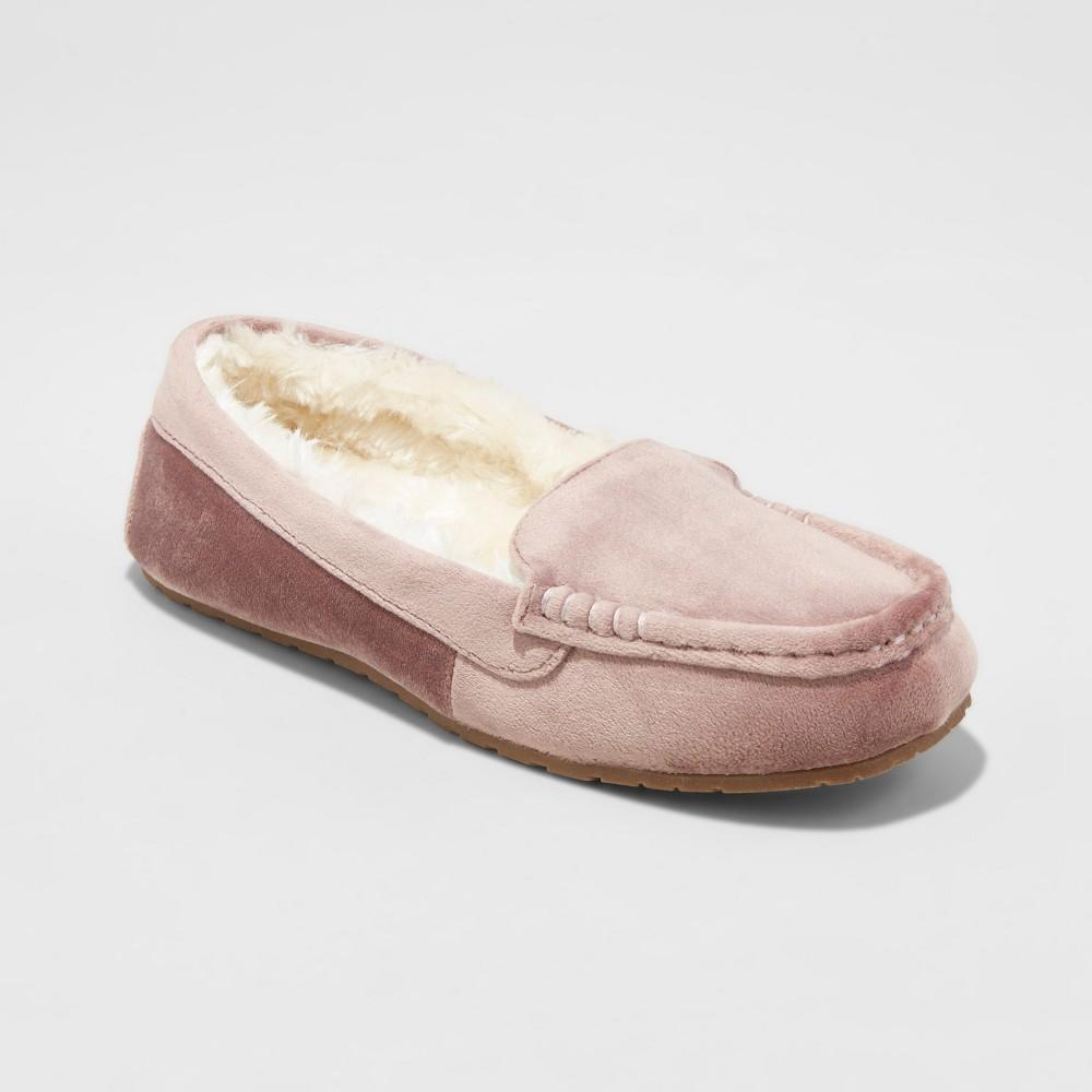 Womens Gemma Velvet Driving Slippers - Mossimo Supply Co. Rose (Pink) 6